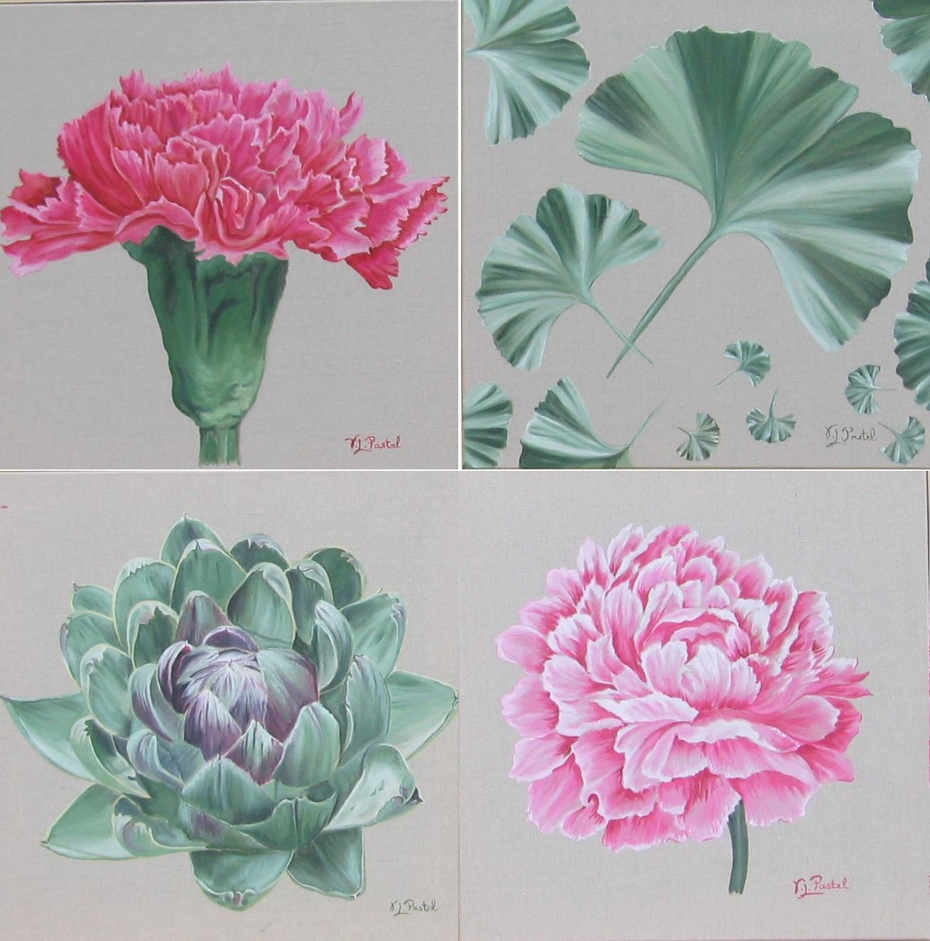 Fleurs & Légumes (x4)