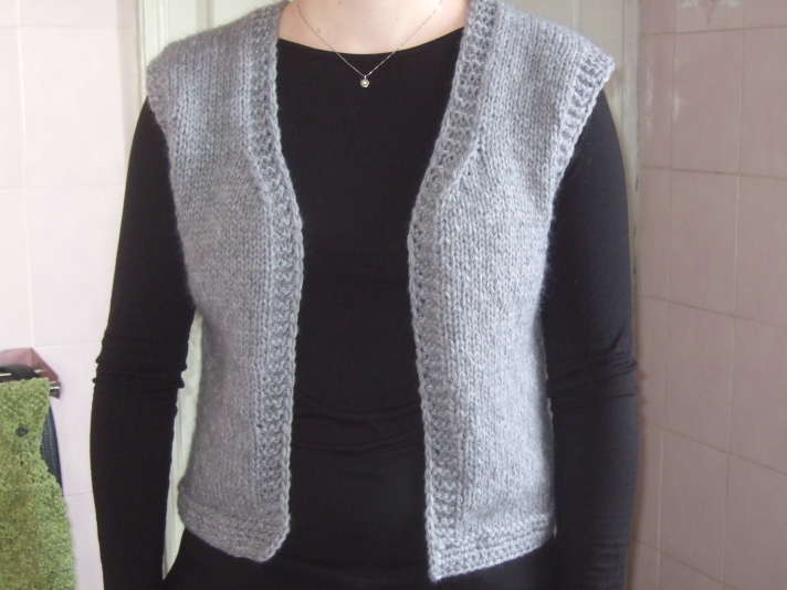 tricoter un gilet sans manche